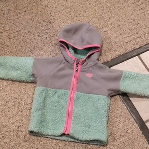 The North Face Mint/Grey Sherpa Jacket 18-24 Month